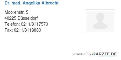 Dr med angelika albrecht