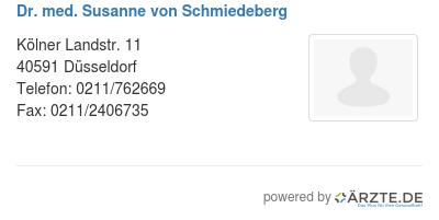 Dr med susanne von schmiedeberg