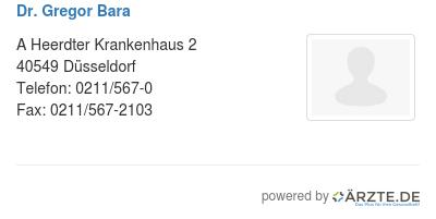 Dr gregor bara 579226