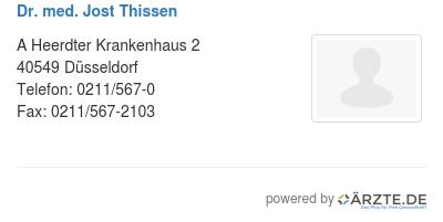 Dr med jost thissen 579191