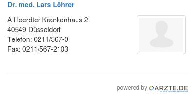 Dr med lars loehrer 579224