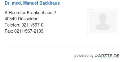 Dr med manuel backhaus 579233