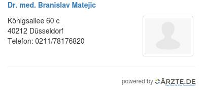 Dr med branislav matejic 579130