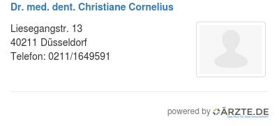 Dr med dent christiane cornelius