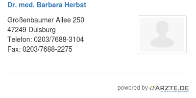 Dr med barbara herbst