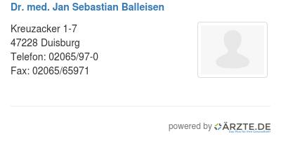 Dr med jan sebastian balleisen 425108