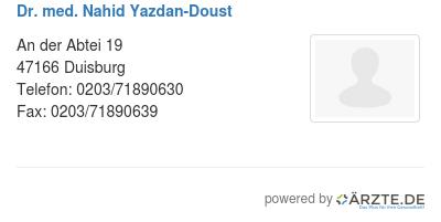 Dr med nahid yazdan doust