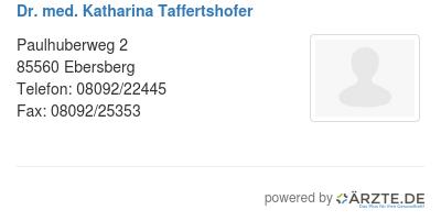 Dr med katharina taffertshofer