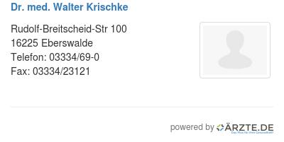 Dr med walter krischke