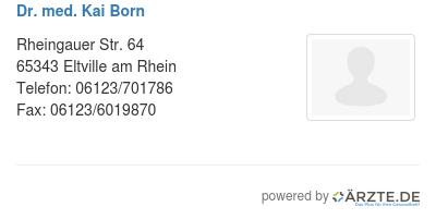 Dr med kai born