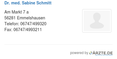 Dr med sabine schmitt 529458