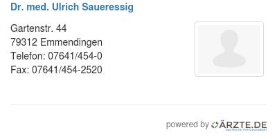 Dr med ulrich saueressig 579187