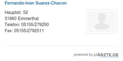 Fernando ivan suarez chacon