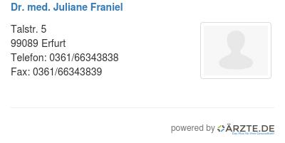 Dr med juliane franiel 561532