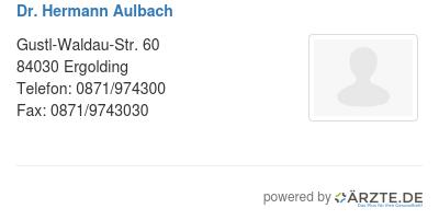 Dr hermann aulbach