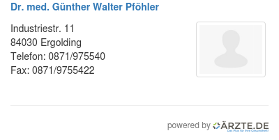 Dr med guenther walter pfoehler
