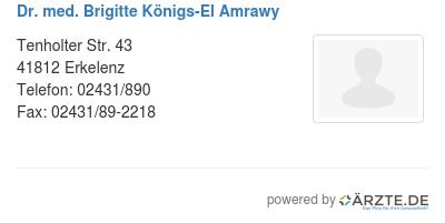 Dr med brigitte koenigs el amrawy