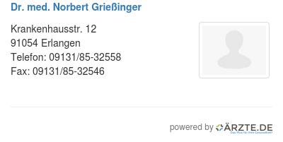 Dr med norbert griessinger