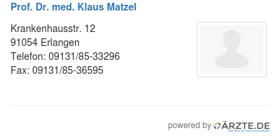 Prof dr med klaus matzel