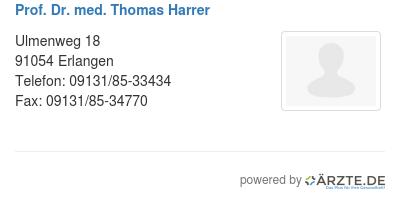 Prof dr med thomas harrer