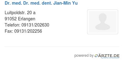 Dr med dr med dent jian min yu