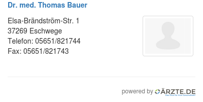 Dr med thomas bauer 529262