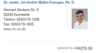 Dr medic ion andrei mueller funogea ph d