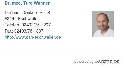Dr med ture wahner
