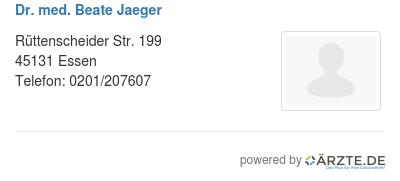 Dr med beate jaeger 580601