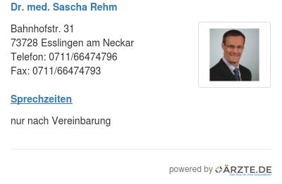 Dr med sascha rehm