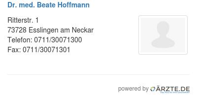 Dr med beate hoffmann 424515