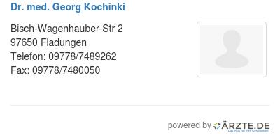 Dr med georg kochinki 580886