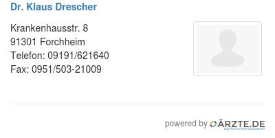Dr klaus drescher 580187