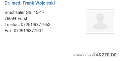 Dr med frank wojcieski