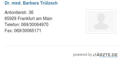 Dr med barbara truelzsch 580980