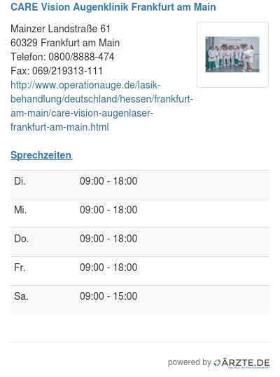 Care vision augenklinik frankfurt am main
