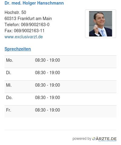 Dr med holger hanschmann
