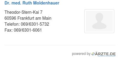 Dr med ruth moldenhauer