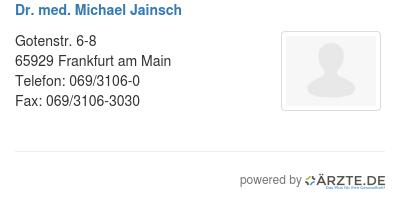 Dr med michael jainsch