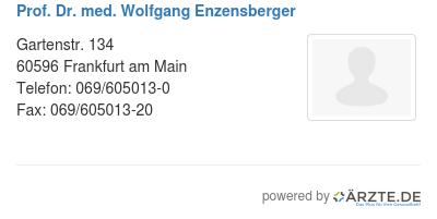 Prof dr med wolfgang enzensberger