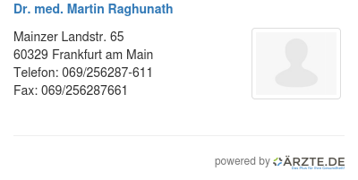 Dr med martin raghunath