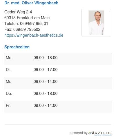 Dr med oliver wingenbach
