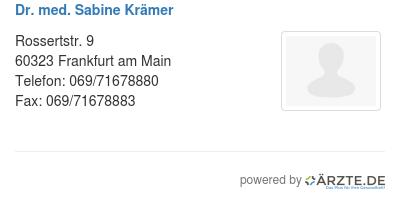 Dr med sabine kraemer 253516