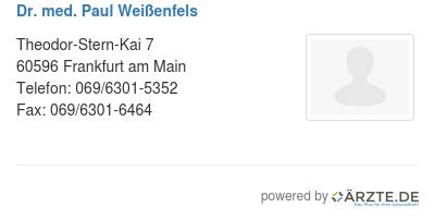 Dr med paul weissenfels 580055