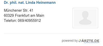 Dr phil nat linda heinemann