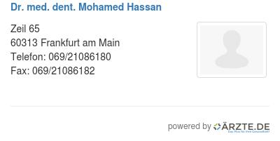 Dr med dent mohamed hassan