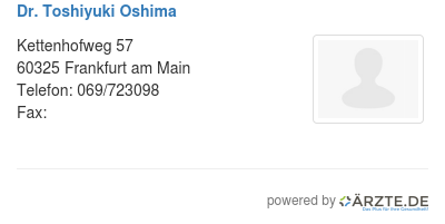 Dr toshiyuki oshima