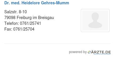 Dr med heidelore gehres mumm