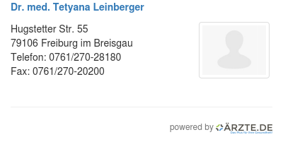 Dr med tetyana leinberger