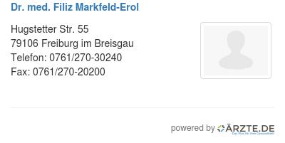 dr med filiz markfeld erol in 79106 freiburg im breisgau. Black Bedroom Furniture Sets. Home Design Ideas